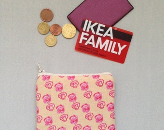 Coin purse/card case/Keyring gitano in cotton-padded