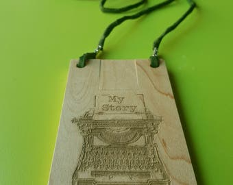 USB stick with engraving, USB stick 16 GB 2.0, wooden stick, stick necklace