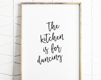 kitchen wall art, kitchen print, kitchen printable art, kitchen wall decor, kitchen download, kitchen poster, kitchen dancing