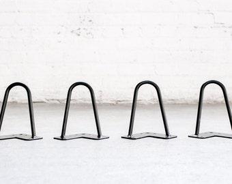 "6"" Hairpin Legs (Satin Black) - Set of 4 Table Legs - Mid Century Modern - Industrial Strength"