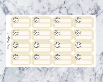 Volleyball Practice/Game || 16 Planner Stickers