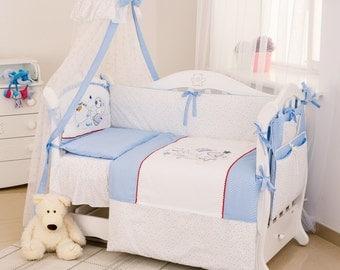 "Baby bedding crib set ""Dogs""."
