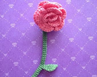 Beautiful crochet book mark Rose