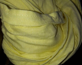 "Yellow 100 percent natural #Linen Scarf ""Sunny"""
