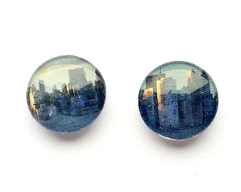 Fridge magnets, 150mm magnets, buildings, skyline magnets, round glass globe magnet, unique magnets, goodie bag, gift, present, gift box