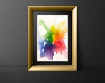 Rainbow Original Watercolor Art / Pride Art / LGBTQ Pride / LGBTQ Art / Rainbow Art / Gay Pride Art / Gift for LGBTQ / lgbt