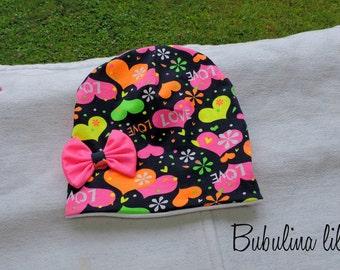 Beanie Hat girl baby DaWanda handmade handmade heart 41 42 43 44 45...