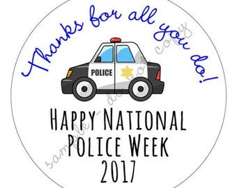 SALE! Police appreciation week and Law Enforcement Support Stickers / Labels Various Sizes Available