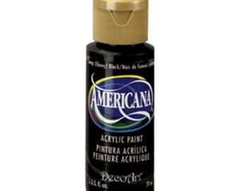 DecoArt® Americana Acrylic Paint - Ebony Black - 2 oz