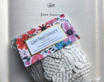 Pride and Prejudice Jane Austen Heart Confetti