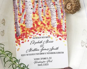Fall Wedding Invitations, rustic wedding invitations, autumn wedding invitations, fall wedding, autumn wedding, autumn leaves