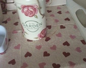 Emma Bridgewater Rose and Bee garden string canister/ Tin /Container Twine inside crafts etc