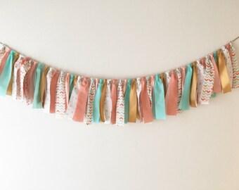 Arrow print fabric garland- fabric strips/ribbon only NO center flag