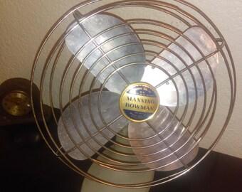 Vintage Manning Bowman Heavy Duty Metal Desk Fan
