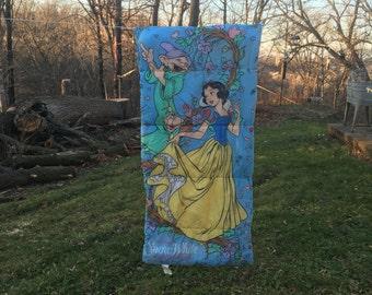 Snow White Sleeping Bag {Vintage Disney Snow White and the Seven Dwarfs Kid Sleepingbag Bedding Blanket} 1990s Disney Snow White