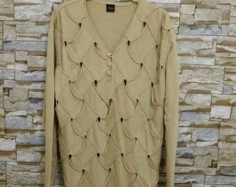 RARE 90's Vintage FORAVI Gothic Shirt Long Sleeve T-Shirt M