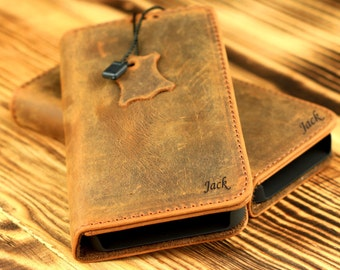 Personalized iPhone 5 - 5s -SE Wallet Case -Handmade Genuine Leather