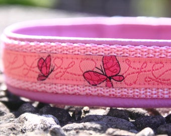 custom manufactured dog collar relined with genuine leather infinitely adjustable