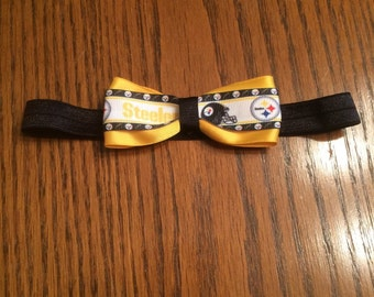 Pittsburgh Steelers Infant Headband, Pittsburgh Steelers Headband, Girls Headband