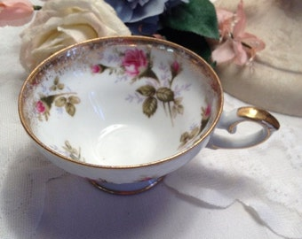 Royal Sealy Rose and Gold China Cup