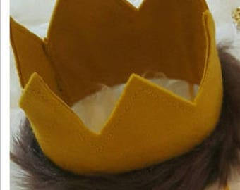 Birthday crown, felt crown, birthday smash, Where the Wild Things Are