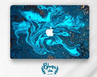 Skin for macbook air Sticker for macbook air 13 Gold skin for macbook Gold sticker for macbook Teal macbook Teal macbook sticker BS039