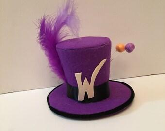 Willy Wonka Chocolate Factory Mini Top Hat Fancy Dress Halloween