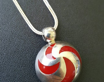 JRI Mexico 925 Red and Silver Necklace