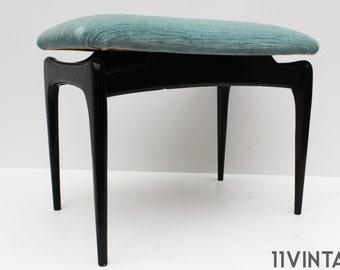Mid century Design Alfred Hendrickx 1950 Belgium Wood Stool Chair Seat Pouf Music stool Vintage Retro