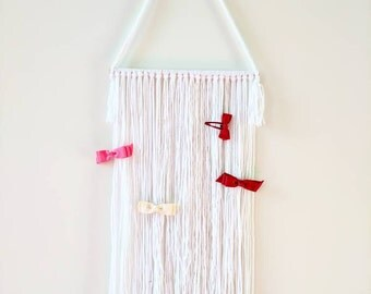 Hair clip yarn decorative wall organizer