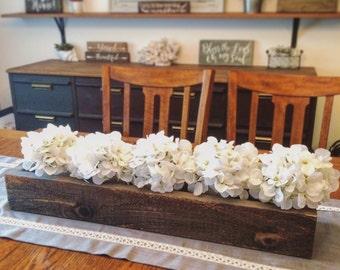 Rustic Wood Box Centerpiece