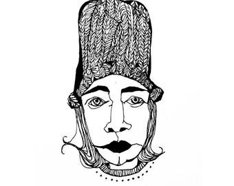 Hat Lady Print