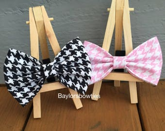 houndstooth bow tie, dog bow tie, houndstooth dog bow tie, Black and white houndstooth