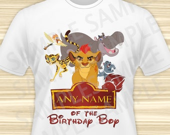 Lion Guard Iron On Transfer. Lion Guard ANY NAME Iron On Transfer. Lion Guard Birthday Shirt. Lion Guard Party. Kion Iron On. DIGITAL File