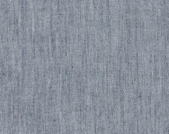 Indigo Double Gauze Chambray - double gauze cotton fabric