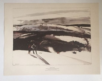 Andrew Wyeth Collotype of Zoar Valley
