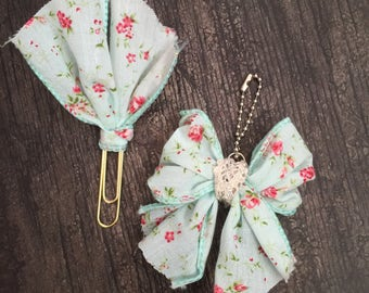 Bow and Paper Clip set