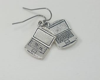 Laptop Earrings, Computer Earrings, Blogger Earrings, Writer Earrings, Workaholic Earrings