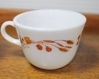 Pyrex -Vintage Set - 2 Pyrex - Harvest Home Coffee/Tea Cups Mugs - 1980's