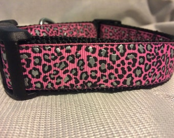 Pink Cheetah Collar