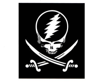 4 Inch Steal Your Face Pirate Magnet