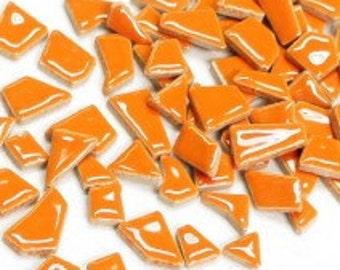 Jigsaw Mosaic Tiles - Orange 100g