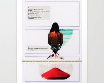 Collage Fine Art Print - séculos sobre séculos / Hahnemuehle paper