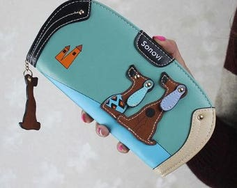 Dog Wallet Teal