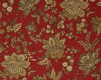 Constatine Ruby - Magnolia Home Fashions - Upholstery Designer Fabric By The Yard