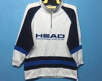 Rare!!vintage 90s HEAD sweatshirt big logo embroidery size M