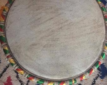 Handmade African djembe (drum)