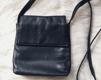 Vintage leather crossbody vintage leather satchel black leather purse