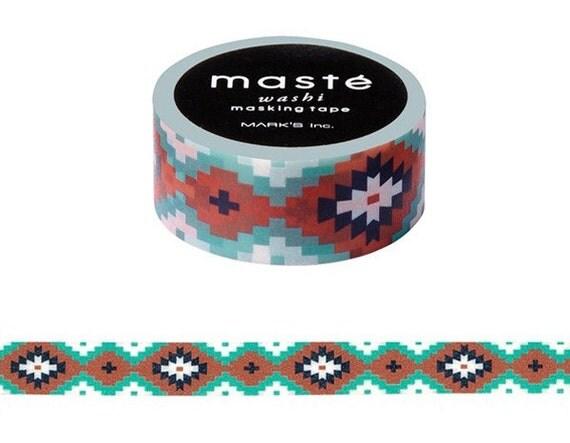 New bohemian ortega washi tape geometric washi aztec for Geometric washi tape designs