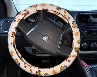Owl steering wheel cover